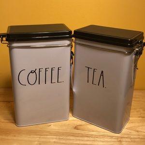 Rae Dunn Coffee And Tea tin bundle set